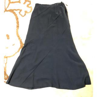 フォーマル スカート黒 ウエスト58センチ(ロングスカート)