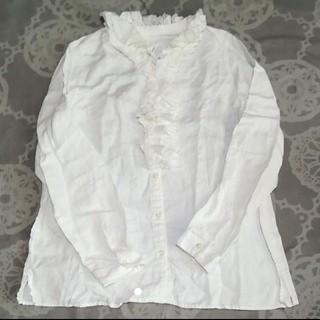 ネストローブ(nest Robe)の☆nest Robeネストローブ美品リネンフリルブラウスused☆(シャツ/ブラウス(長袖/七分))
