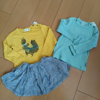 ラグマート(RAG MART)のラグマート 長袖カットソー&スカートセット(Tシャツ)