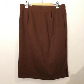 ハッシュアッシュ(HusHush)のhushush タイトスカート ブラウン #Cattleya (ひざ丈スカート)