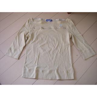 バーバリーブルーレーベル(BURBERRY BLUE LABEL)のBURBERRY BLUELABEL バーバリー 38 M 5分袖 シャツ(Tシャツ(長袖/七分))