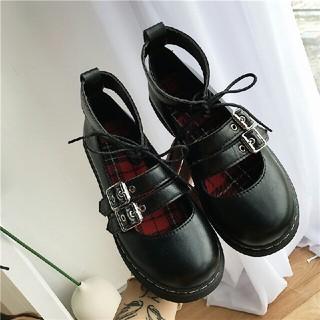 新作 原宿系    ロリータ  リングバックル 靴 (ローファー/革靴)