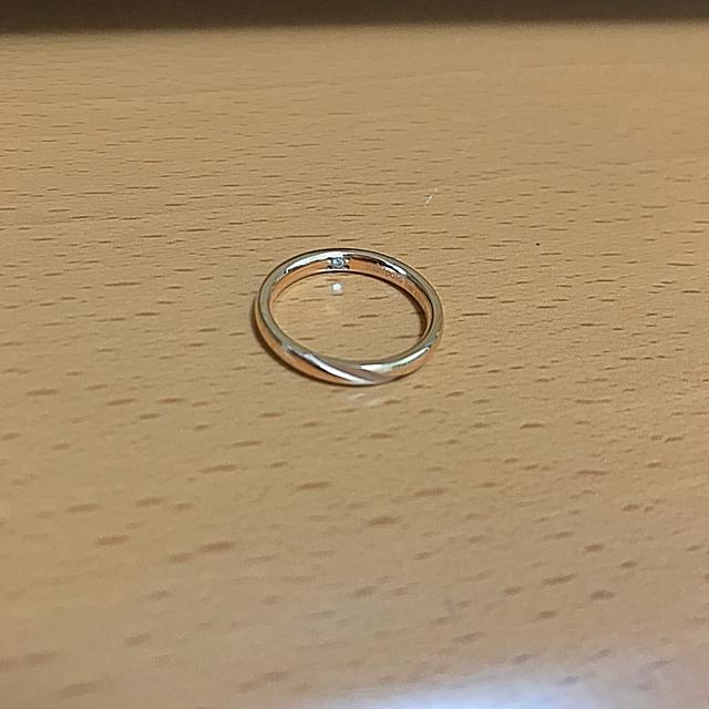 THE KISS(ザキッス)の 指輪 リング 7号 薬指用 レディース ピンクゴールド ペアリング レディースのアクセサリー(リング(指輪))の商品写真