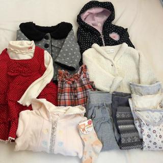 petit main - 約80㎝〜90㎝ 女の子用冬物 まとめ売り