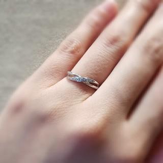 4℃ - 4℃ k10 ホワイトゴールド リング ダイヤモンド