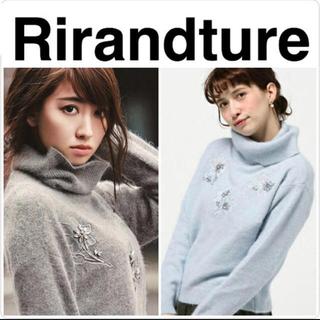 リランドチュール(Rirandture)のRirandture♡フラワービジュータートルニット(ニット/セーター)