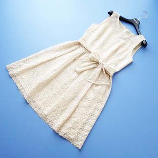 ANAYI - ■アナイ■ 38 総刺繍レース ベージュ系 ワンピース ANAYI