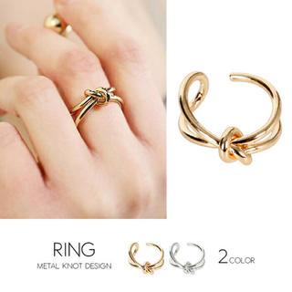 メタル結びデザインリング(リング(指輪))