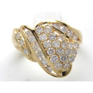お値引き不可 K18 合計1.016ct 天然 ダイヤ リング(リング(指輪))