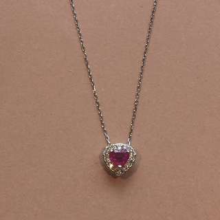 PonteVecchio - 新品❤️18金 ハート ルビー ダイヤモンド ネックレス ホワイト K18