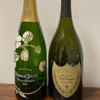 ドンペリニヨン(Dom Pérignon)のドンペリ&ペルエポック750ml &バカラロックグラス(シャンパン/スパークリングワイン)