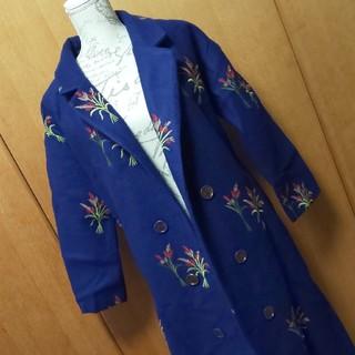 アンティカ(antiqua)の花刺繍ロングコート5  訳あり(ロングコート)