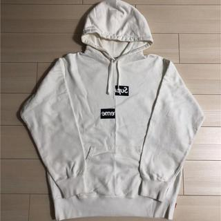 Supreme - Supreme Split Box Logo Hooded Sweatshirt