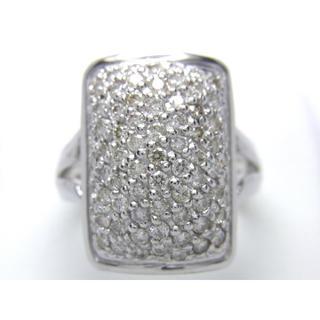 お値引き不可 K18 合計1.30ct 天然 ダイヤ リング(リング(指輪))