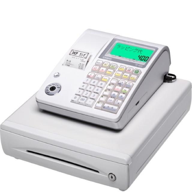 CASIO(カシオ)のcasio カシオ レジスター TE-400WE 未使用 インテリア/住まい/日用品のオフィス用品(店舗用品)の商品写真