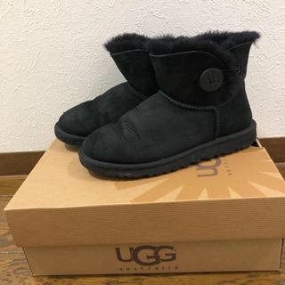 UGG - UGG ムートンブーツ 黒 23cm