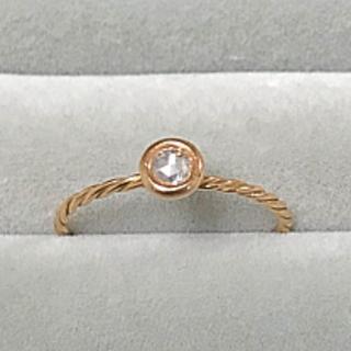 K18PG ローズカットダイヤリング マカロン(リング(指輪))