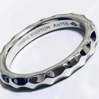ルイヴィトン(LOUIS VUITTON)のルイヴィトン K18WG 美品 バーグ アリアンス モノグラム アンフィニリング(リング(指輪))