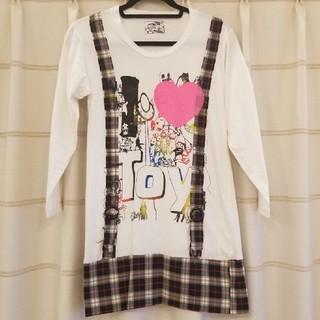 TOY CHAIR★フェイクサロペットロングTシャツ(Tシャツ(長袖/七分))