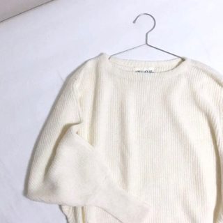 EDIT.FOR LULU - vintage knit ドルマンスリーブ ホワイトニット セーター