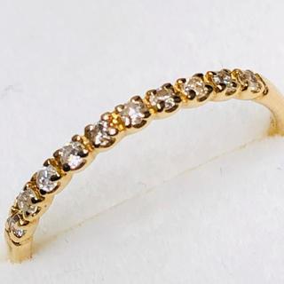 K18 ハーフエタニティ ダイヤ付きの指輪(リング(指輪))