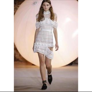 snidel - ケープデザイン レースドレス