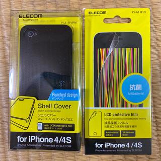 ELECOM - iPhone4カバーと保護フィルム