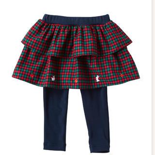 ファミリア(familiar)の❇︎今季 ファミリア レギンス付きスカート 80 新品未使用(スカート)