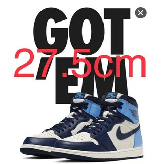NIKE - NIKE AIR JORDAN 1 RETRO HIGH OG OBSIDIAN