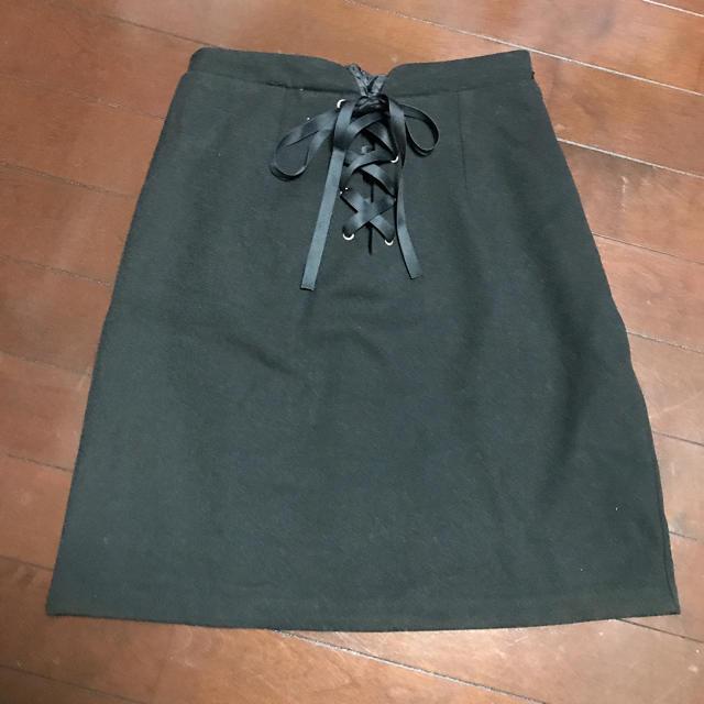 ByeBye(バイバイ)のbyebye新品編み上げスカートoneway レディースのスカート(ミニスカート)の商品写真