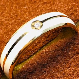 スタージュエリー(STAR JEWELRY)のK18 ダイヤ付きスタージュエリーの丸甲リング(リング(指輪))
