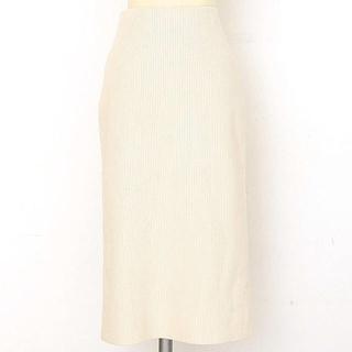 Mila Owen - Mila Owen(ミラ オーウェン) リブ編みシンプルスカート ホワイト