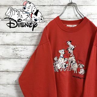 Disney - 超希少 古着 90s ディズニー 101匹わんちゃん スウェット 刺繍 デカロゴ