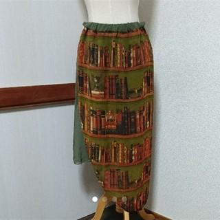 アンティカ(antiqua)のアンティカ 本棚柄スカート(ひざ丈スカート)