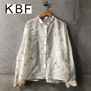 ケービーエフ(KBF)の【KBF】19ss オーガンジー刺繍ブラウス F(シャツ/ブラウス(長袖/七分))