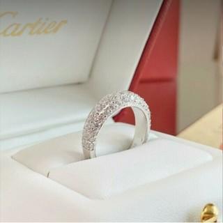 カルティエ(Cartier)のCartier ハーフダイヤモンドの指輪 (リング(指輪))