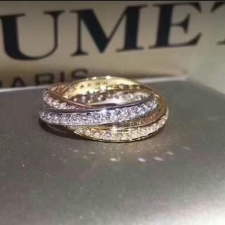 カルティエ(Cartier)のCartier 3色ダイヤモンドの指輪 (リング(指輪))