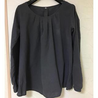 MUJI (無印良品) - 無印 muji シルク100% 絹 プルオーバー  ブラウス チュニック