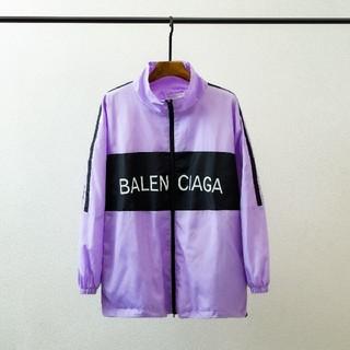 バレンシアガ(Balenciaga)のBALENCIAGA バレンシアガ トラックジャケット パープル/ブラック(ナイロンジャケット)