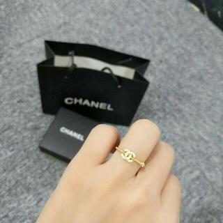 シャネル(CHANEL)のシャネル CHANEL レディース リング 指輪 ゴールド 超美品(リング(指輪))