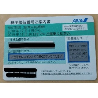 ANA(全日本空輸) - ANA株主優待券 11/30まで 1枚