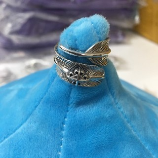 極太フェザー シルバーリング s925 フェザー フリーサイズ インディアン  (リング(指輪))