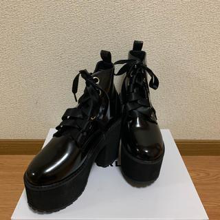 レースアップ厚底ショートブーツ(ブーツ)