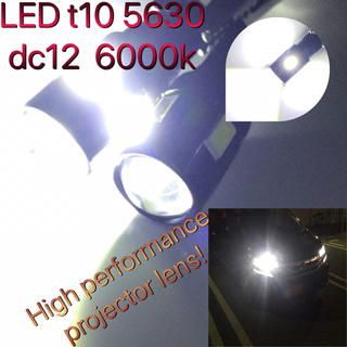 LED t10 5630 6smd BLK projector dc12   (汎用パーツ)