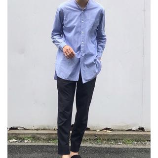 COMOLI - 19aw comoli バンドカラーシャツ SAX サイズ1