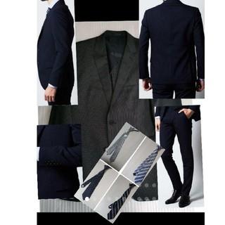 ミッシェルクラン(MICHEL KLEIN)のused ミッシェルクランオムセットアップスーツ48ネイビー×ストライプ(セットアップ)