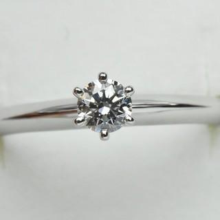 ティファニー(Tiffany & Co.)の鑑別 保 TIFFANY ティファニー ソリティア リング 6.5号 指輪  (リング(指輪))