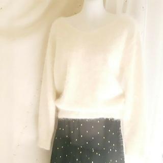 JUSGLITTY - 秋冬ジャスグリッティーアンゴラふんわりニットセーター