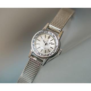 オメガ(OMEGA)の美品 オメガ デビル カットガラス シルバー 手巻き レディース Omega(腕時計)