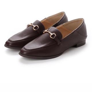 イーボル(EVOL)のSTORY掲載【EVOL】 ILIMA スクエアビットローファー (ブラウン)(ローファー/革靴)